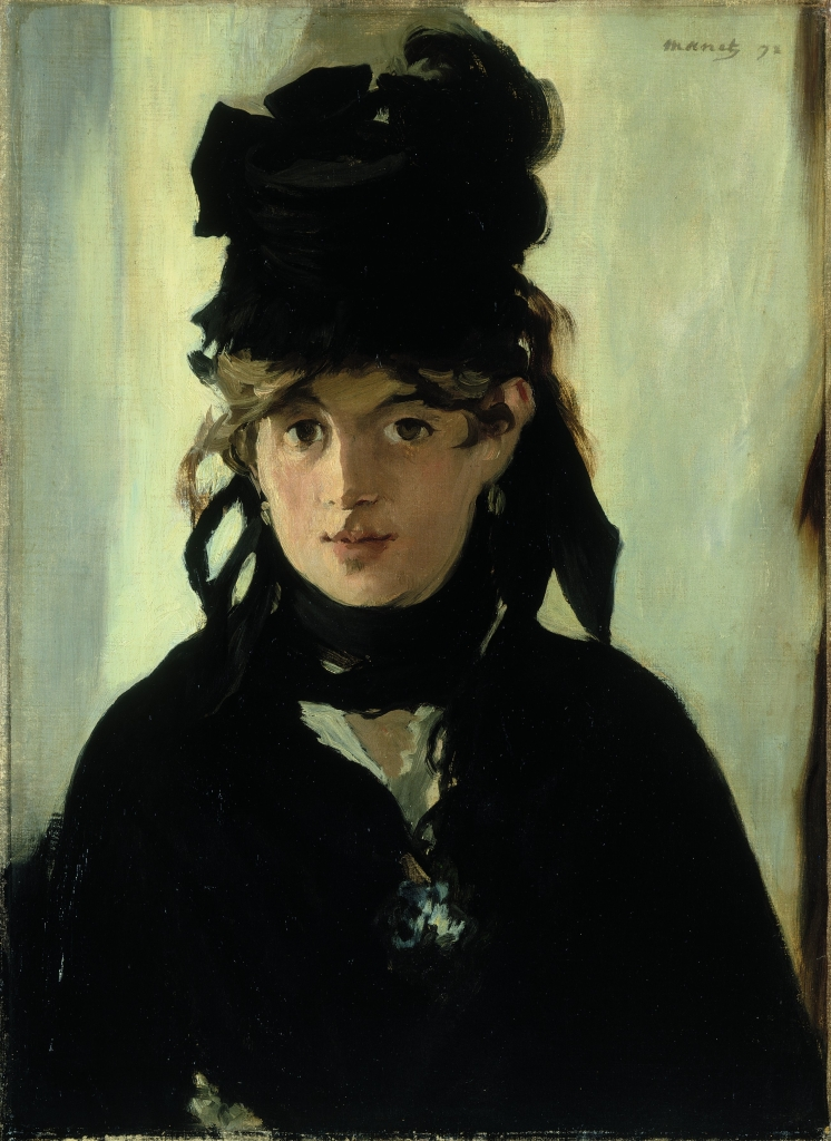 Berthe Morisot with a Bouquet of Violets by Manet. The Boar