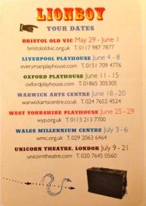 Lionboy Tour Dates Complicite