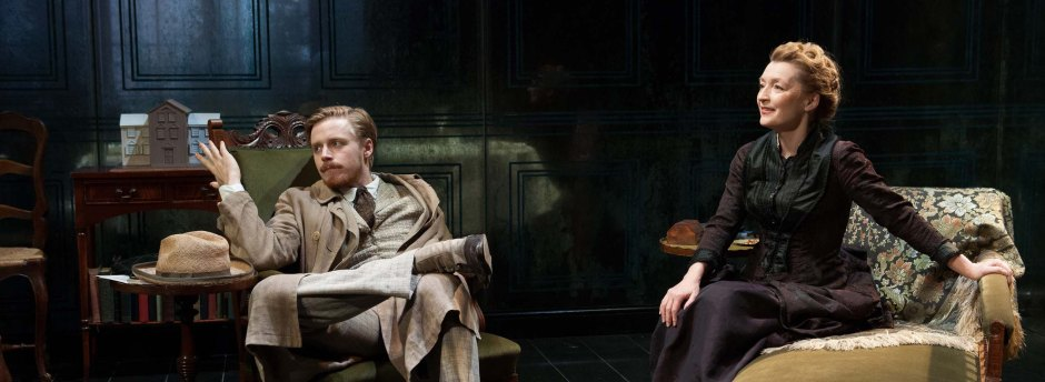 Lesley Manville and Jack Lowden in Ghosts at Trafalgar Studios, photo: Tristram Kenton
