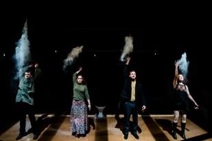 Against a backdrop of Tory cuts, high unemployment and the deregulated economy of 1970s Britain, a young urban guerrilla group mobilises: The Angry Brigade. Their targets: MPs. Embassies. Police. Pageant Queens. From James Graham (Privacy) - a Theatre Royal Plymouth and Paines Plough production. Photo: Richard Davenport.