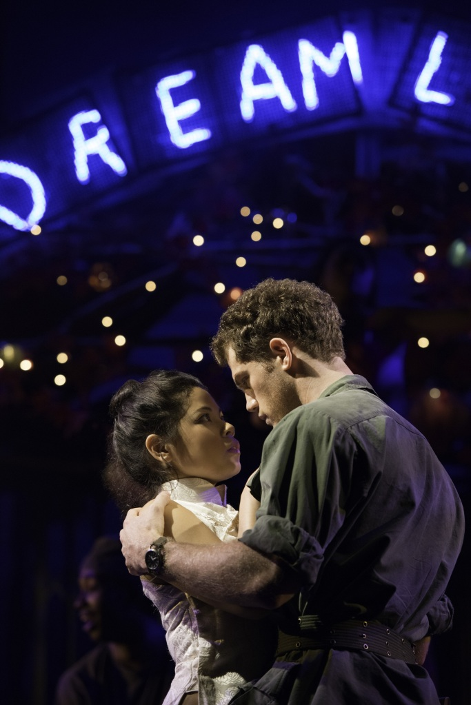 Miss Saigon - Eva Noblezada as Kim and Alistair Brammer as Chris - Photo credit Michael Le Poer Trench