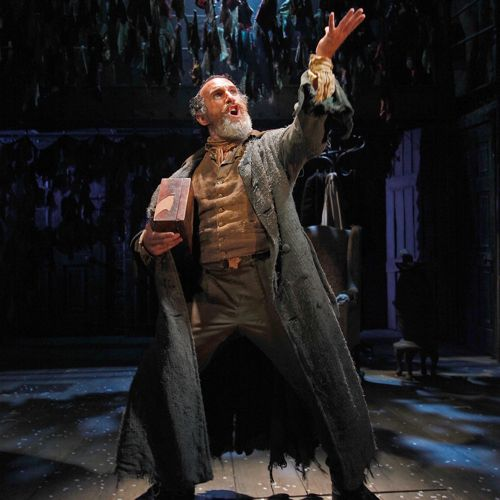 Cameron Blakely as Fagin. Photo Philip Tull.